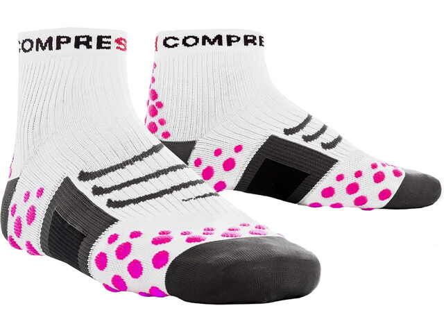 Compressport ProRacing Run - Calcetines Running - rosa/blanco
